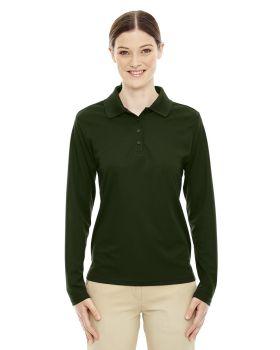 Core365 78192 Pinnacle Women's Performance Long Sleeve Pique Polo