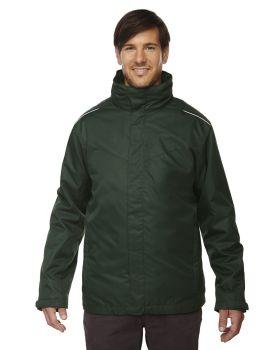 Core365 88205 Region Men's 3 In 1 Jacket with Fleece Liner