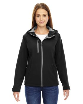 Ash City - North End 78166 Ladies' Prospect Two-Layer Fleece Bonded Soft Shell Hooded Jacket