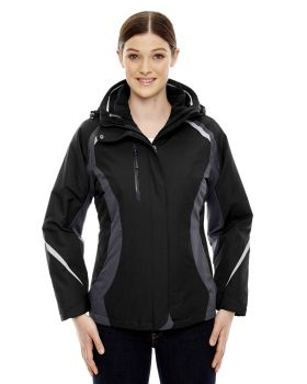 Ash City - North End 78195 Ladies' Height 3-in-1 Jacket with Insulated L ...