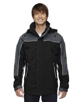 Ash City - North End 88052 Adult 3-in-1 Seam-Sealed Mid-Length Jacket with Piping