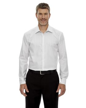 'Ash City - North End Sport Blue 88674 Lk Wrinkle-Free Two-Ply 80 Cotton Striped Tape Shirt'