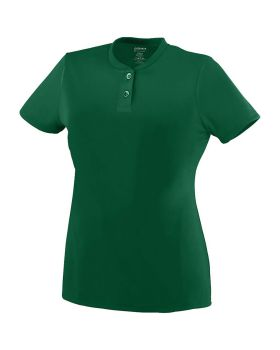 Augusta 1212-C Ladies Wicking Two-Button Jersey