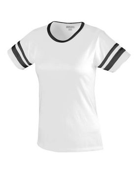 Augusta 1275-C Ladies Junior Fit Cotton/Spandex Camp Tee