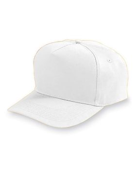 Augusta 6207 Youth Five-Panel Cotton Twill Cap