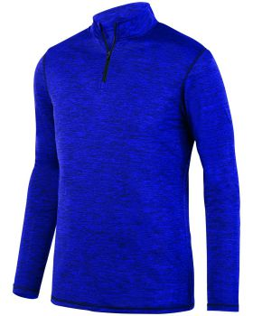 Augusta Sportswear 2955 Adult Intensify Black Heather Quarter-Zip Pullov ...