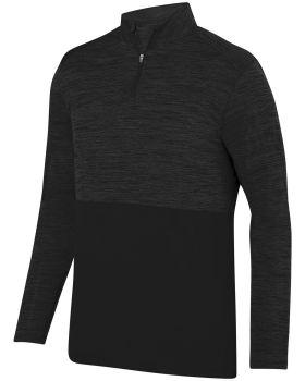 Augusta Sportswear AG2908 Adult Shadow TonalHeather Quarter-Zip Pullove ...