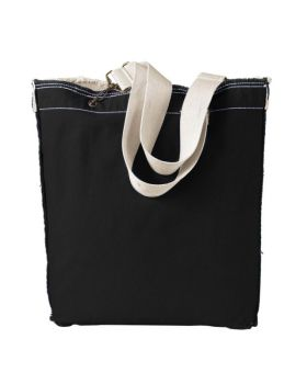 Authentic Pigment 1906 Direct-Dyed Raw-Edge Tote