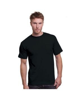 Bayside BA3015 Adult Cotton Pocket T-Shirt