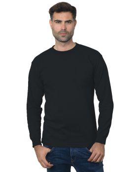 Bayside BA3055 Unisex Union-Made Long-Sleeve Pocket Crew T-Shirt