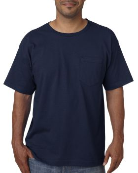Bayside BA5070 Adult Short-Sleeve T-Shirt with Pocket