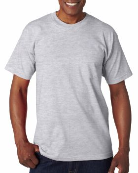 Bayside BA7100 Adult Cotton Pocket T-Shirt