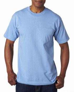 Bayside BA7100 Adult Cotton Pocket T-Shirt