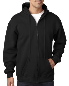 Bayside BA900 Adult Full-Zip Hooded Sweatshirt