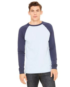 Bella Canvas 3000C Men's Jersey Long-Sleeve Baseball T-Shirt