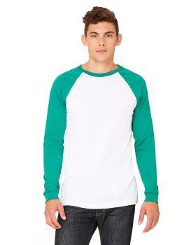 Bella Canvas 3000C Men's Jersey Long-Sleeve Baseball T-Shirt