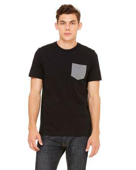 Bella Canvas 3021 Men's Jersey Short-Sleeve Pocket T-Shirt