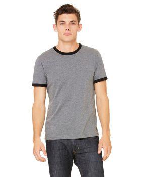 Bella Canvas 3055C Men's Jersey Short-Sleeve Ringer T-Shirt