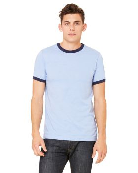 Bella Canvas 3055C Men's Jersey Short-Sleeve Ringer T-Shirt