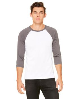 Bella Canvas 3200 Unisex 3/4-Sleeve 3.6 oz Baseball T-Shirt
