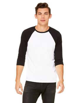 'Bella Canvas 3200 Unisex 3/4-Sleeve 3.6 oz Baseball T-Shirt'