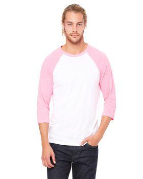 Bella Canvas 3200 Unisex 3/4-Sleeve Baseball T-Shirt