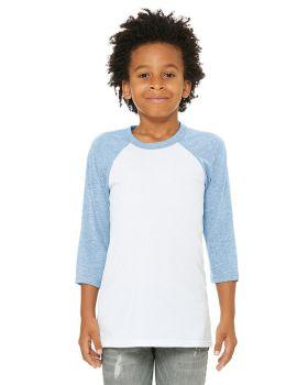 Bella Canvas 3200Y Youth 3/4-Sleeve Baseball T-Shirt