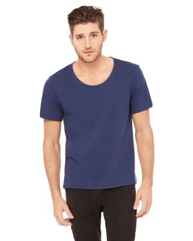 Bella Canvas 3406 6 Men Jersey Wide Neck T-Shirt