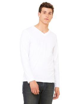 Bella Canvas 3425 Unisex Jersey Long Sleeve V Neck T-Shirt