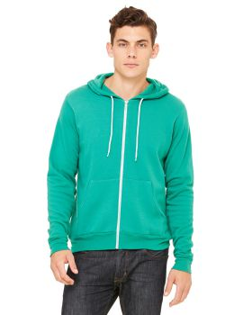 Bella Canvas 3739 Unisex Fleece Poly Cotton 7 oz Full-Zip Hoodie
