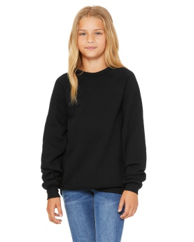 Bella + Canvas 3901Y Youth Sponge Fleece Raglan Sweatshirt
