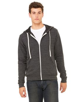 Bella Canvas 3909 Unisex Triblend Sponge Fleece Full-Zip Hoodie