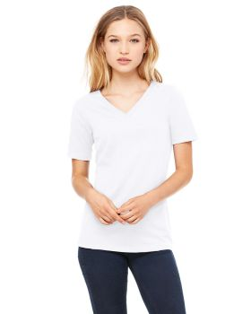 Bella Canvas 6405 Ladies Relaxed Jersey Short Sleeve V Neck T-Shirt