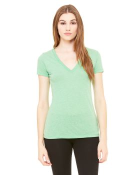 Bella Canvas 8435 Ladies Triblend Short Sleeve Deep V Neck T-Shirt