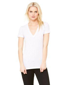 Bella Canvas 8435 Ladies Triblend Short Sleeve Deep V Neck T-Shirt