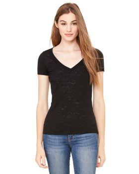 Bella Canvas 8605 5 Women Burnout Short-Sleeve V-Neck T-Shirt