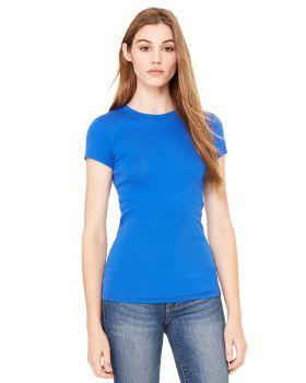 Bella Canvas 8701 Ladies' Sheer Mini Rib Short-Sleeve T-Shirt