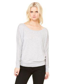 Bella Canvas 8850 Ladies' Flowy Long-Sleeve Off Shoulder T-Shirt