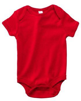 'Bella Canvas B100 0 Infant Short-Sleeve Baby Rib One-Piece'