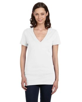 Bella Canvas B6035 Ladies Jersey Short Sleeve Deep V Neck T-Shirt