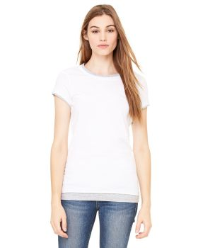Bella Canvas B8102 2 Women Sheer Jersey Short-Sleeve 2-In-1 T-Shirt