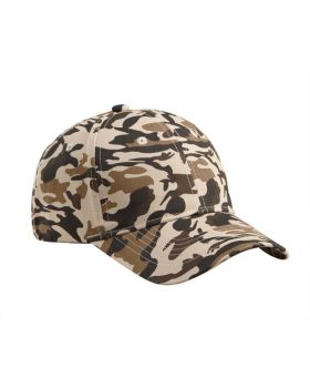 Big Accessories BX024 Structured Camo Hat