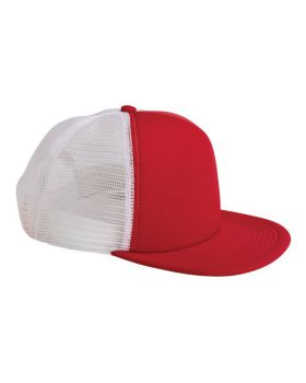 Big Accessories BX030 5-Panel Foam Front Trucker Cap