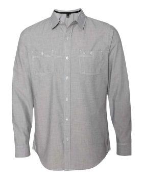Burnside 8257 Mini-Check Long Sleeve Shirt