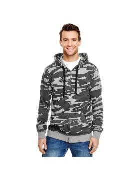 Burnside 8615 Camo Hooded Full-Zip Sweatshirt