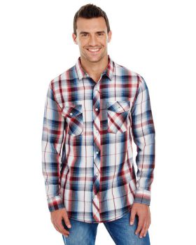 Burnside B8202 Men's Long-Sleeve Plaid Pattern Woven Shirt