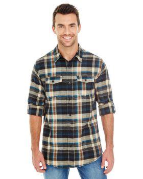 Burnside B8210 Men's Plaid Flannel Shirt