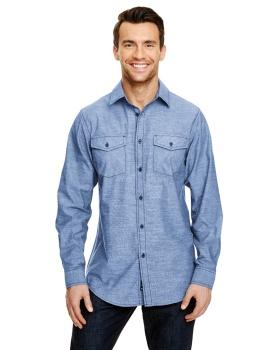 Burnside B8255 Mens Chambray Woven Shirt