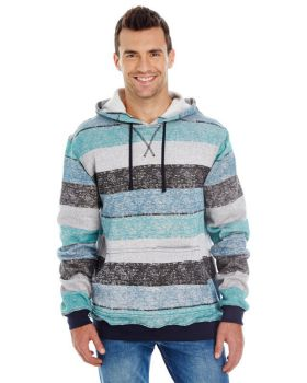 Burnside B8603 Men's Printed Stripe Marl Pullover