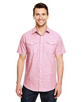 Burnside B9247 Men's Textured Woven Shirt
